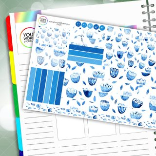 Iced Floral Passion Planner Daily Sticker Kit