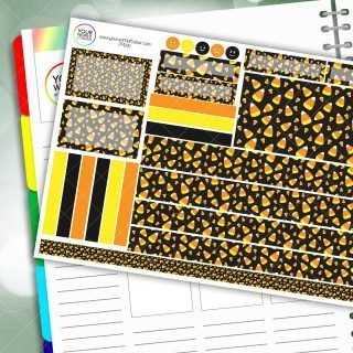 Candy Corn Passion Planner Daily Sticker Kit