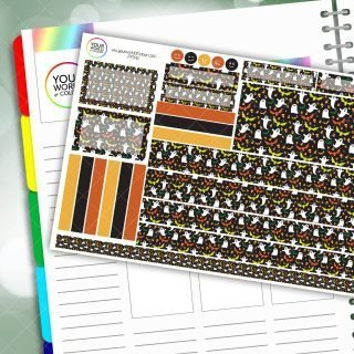 Halloween Madness Passion Planner Daily Sticker Kit