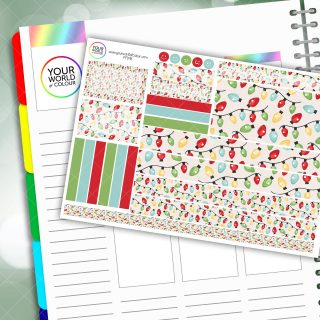 Festive Lights Passion Planner Daily Sticker Kit