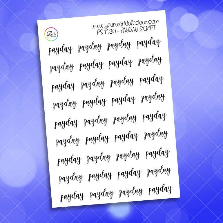 Payday Script Planner Sticker