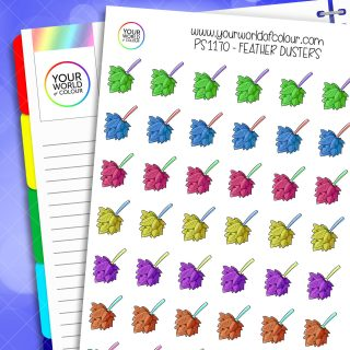 Feather Duster Planner Stickers