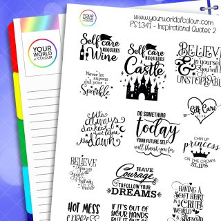 Inspirational Quotes Planner Stickers - Version 2
