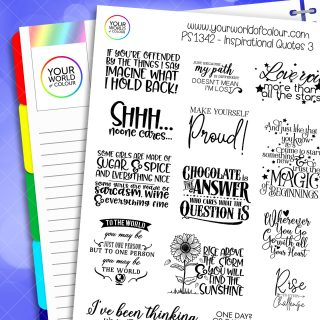 Inspirational Quotes Planner Stickers - Version 3