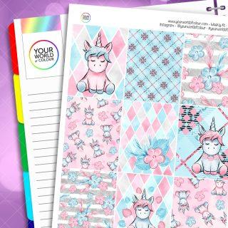 Spring Unicorn Weekly Erin Condren Kit