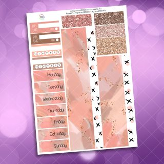Just Peachy Washi and Date Cover Stickers