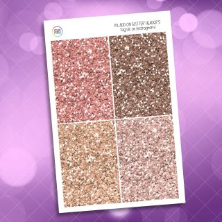 Just Peachy Glitter Headers Add On