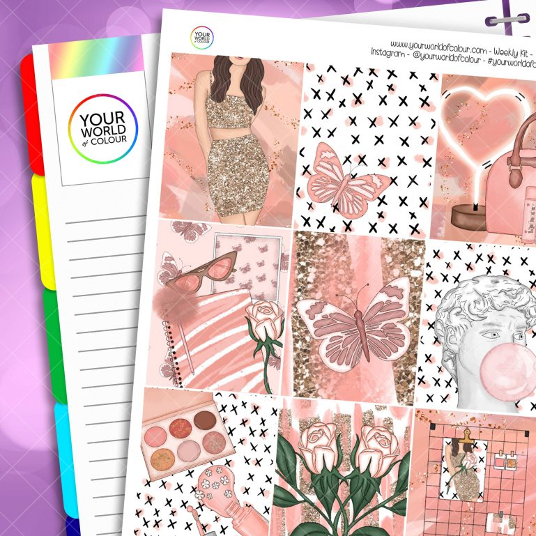 Just Peachy Weekly Planner Sticker Kit