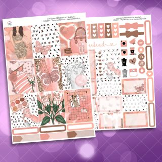 Just Peachy Two Sheet Weekly Planner Sticker Kit