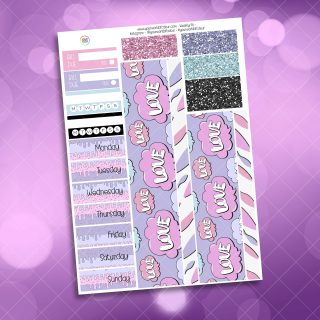 XOXO Alien Washi and Date Cover Stickers