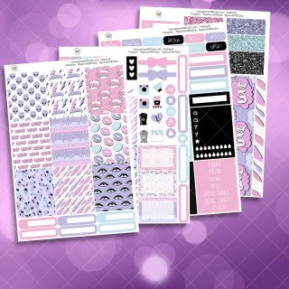 XOXO Alien Full Four Sheet Weekly Planner Sticker Kit