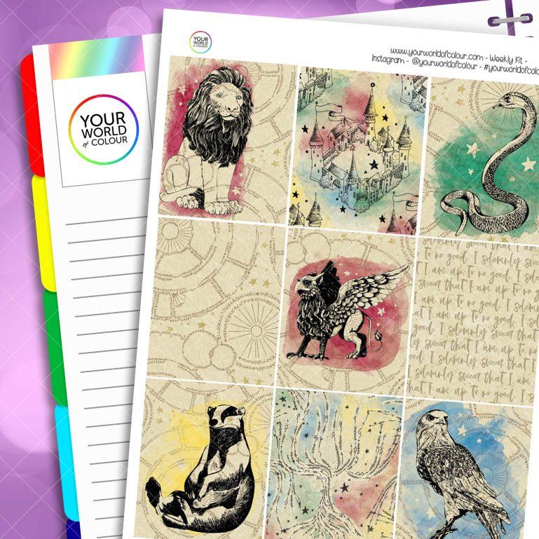 School Of Magic Houses Weekly Kit