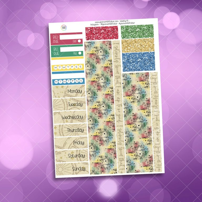 School Of Magic Houses Washi and Date Cover Stickers