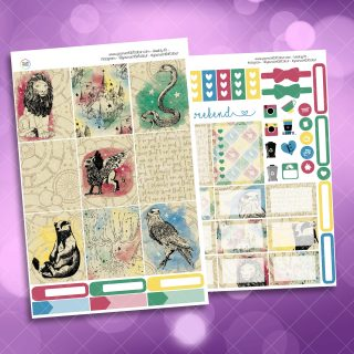School Of Magic Houses Two Sheet Weekly Planner Sticker Kit