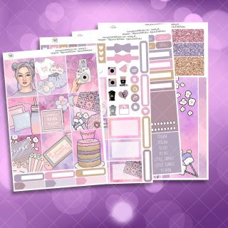Slumber Party Full Four Sheet Weekly Planner Sticker Kit
