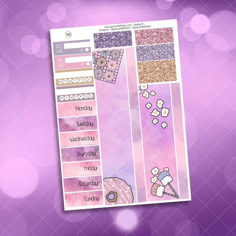 Slumber Party Washi and Date Cover Stickers