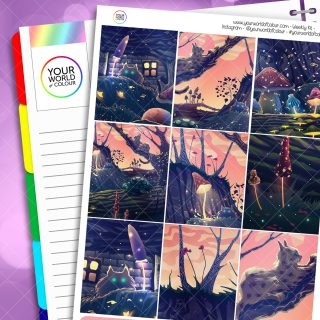 Magical Garden Weekly Sticker Kit