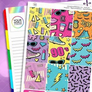 90's weekly planner kit
