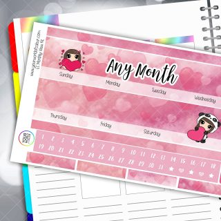 In Love Monthly Planner Sticker Kit