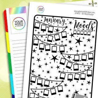 Mood Tracker Notes Page Planner Sticker Kit