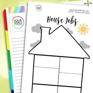 House Jobs Tracker Notes Page Planner Sticker Kit