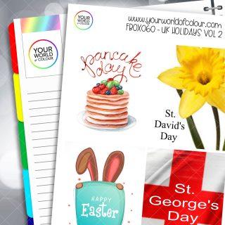 UK Holidays Full Box Planner Stickers - Volume2