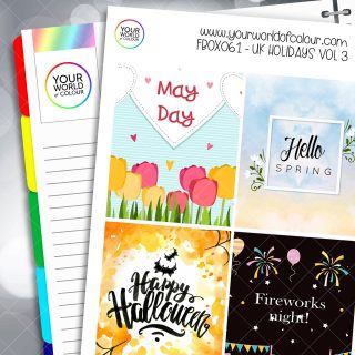 UK Holidays Full Box Planner Stickers - Vol 3