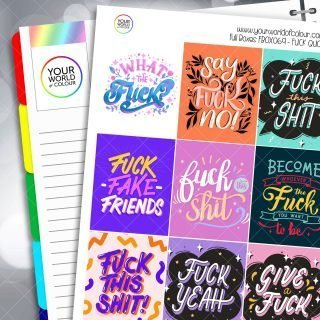 Fuck Quote Full Box Planner Stickers