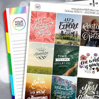 Adevnture Quotes Full Box Planner Stickers - Version Two