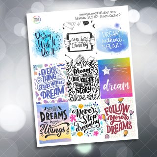 Dream Quotes Full Box Planner Sticker - Version Two