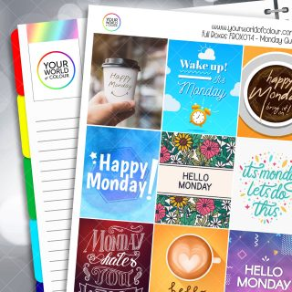 Monday Quotes Full Box Planner Stickers