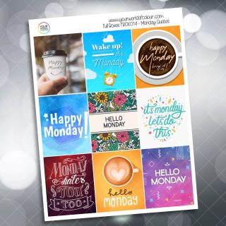 Monday Quotes Full Box Planner Sticker
