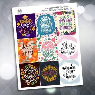 Positive Quotes Full Box Planner Sticker - Version Ten