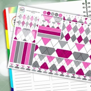 Keep In Check Passion Planner Daily Sticker Kit