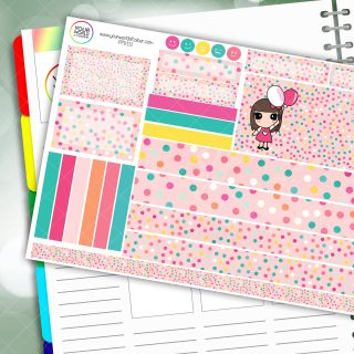 Polka Dot Party Passion Planner Daily Sticker Kit