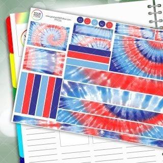 Tie Dye Passion Planner Daily Sticker Kit