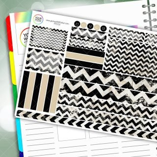 Bold Chevron Passion Planner Daily Sticker Kit