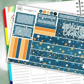 Exhale Stars Passion Planner Daily Sticker Kit