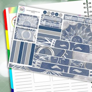 Eye Of The Moon Passion Planner Daily Sticker Kit