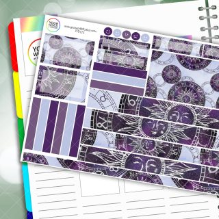 Astro Sun Passion Planner Daily Sticker Kit