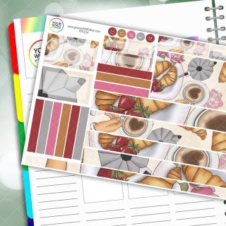 Brunch Passion Planner Daily Sticker Kit