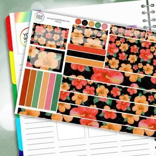 Summer Hibicus Passion Planner Daily Sticker Kit