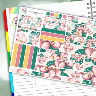 Tropical Floral Passion Planner Daily Sticker Kit