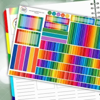 Rainbow Life Passion Planner Daily Sticker Kit