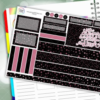 Dark Before Dawn Passion Planner Daily Sticker Kit