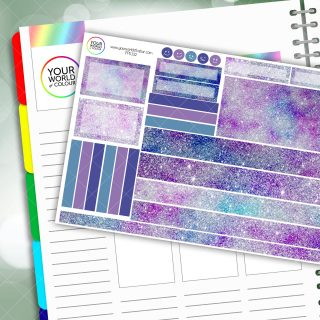 Galaxy Glitz Passion Planner Daily Sticker Kit