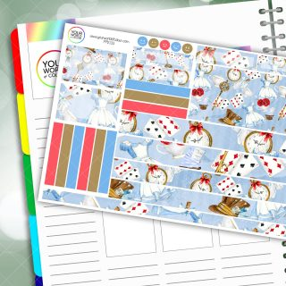 Alice Passion Planner Daily Sticker Kit