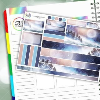 Frozen Moon Passion Planner Daily Sticker Kit