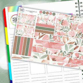 Floral Sensations Passion Planner Daily Sticker Kit