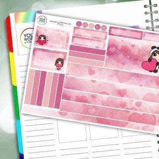 Panda Love Passion Planner Daily Sticker Kit